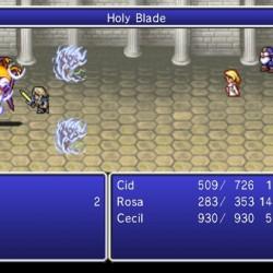 Cecil, Cid et Rosa dans Final Fantasy IV: The After Years