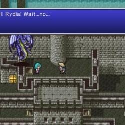 Rydia et Bahamut dans le château de Baron dans FF4, the after years