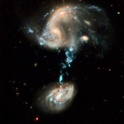 L'interaction entre deux galaxies, la fontaine de jouvence