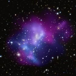 Quatre galaxies en collision