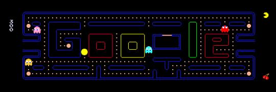 Logo Google pour le 30ème anniversaire de Pac Man