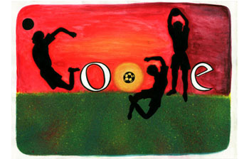 Doodle I love Football