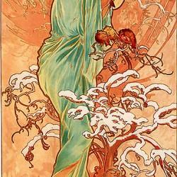 Alfons Mucha - 1896 - Hiver