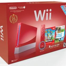 La Wii rouge avec deux jeux de Mario