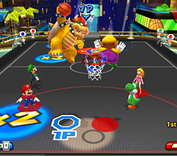 Basketball dans Mario Sports Mix