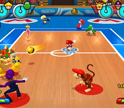 Dodgeball dans Mario Sports Mix
