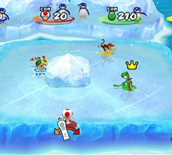 Mini jeu sur glace