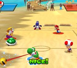 Yoshi dans Mario Sports Mix