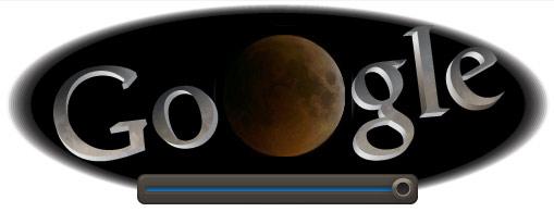 Logo Google pour l'éclipse lunaire