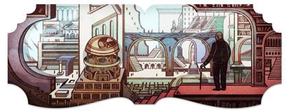 Jorge Luis Borges (logo Google)