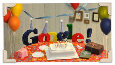 13ème anniversaire de Google