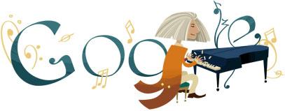 Franz Liszt, logo doodle