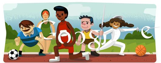 Cérémonie d'ouverture des Jeux Olympiques de Londres 2012: logo Google