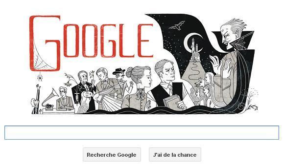 Bram Stoker Google logo