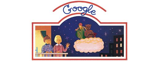 Bonne nuit les petits: logo doodle de Google