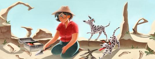 Mary Leakey - Doodle