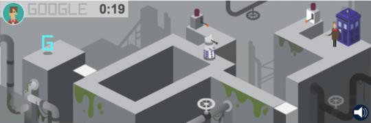 Capture d'écran du jeu doodle de Docteur Who