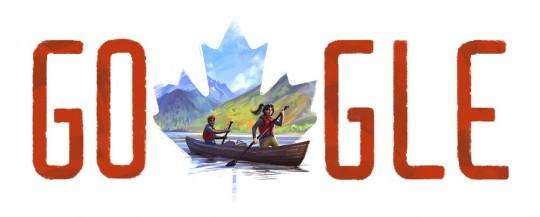 Logo google pour la fête du canada