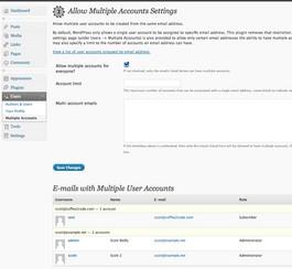 Permettre plusieurs comptes avec le même email sur un blogue WordPress