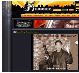 Un jeu de mauvais goût inspiré du massacre à Dawson retiré du Web
