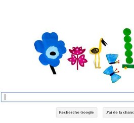 Google souligne l'équinoxe de printemps avec un doodle
