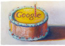 Google célèbre ses 12 ans avec un gâteau de Wayne