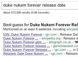 Google devine les dates de sortie des films et des jeux