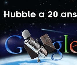 20ème anniversaire de Hubble célébré par un logo Google