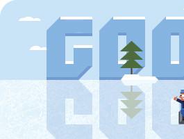 Frank Zamboni passe la Zamboni sur le logo de Google!