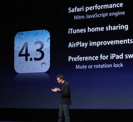 iPhone et iPad: Apple rend disponible l'iOS 4.3 deux jours à l'avance!