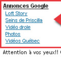 Les seins de Priscilla de Loft Story: nouveau marché publicitaire sur Google!