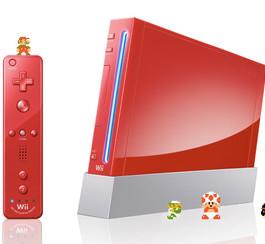 Une Wii rouge aux couleurs des jeux de Mario!